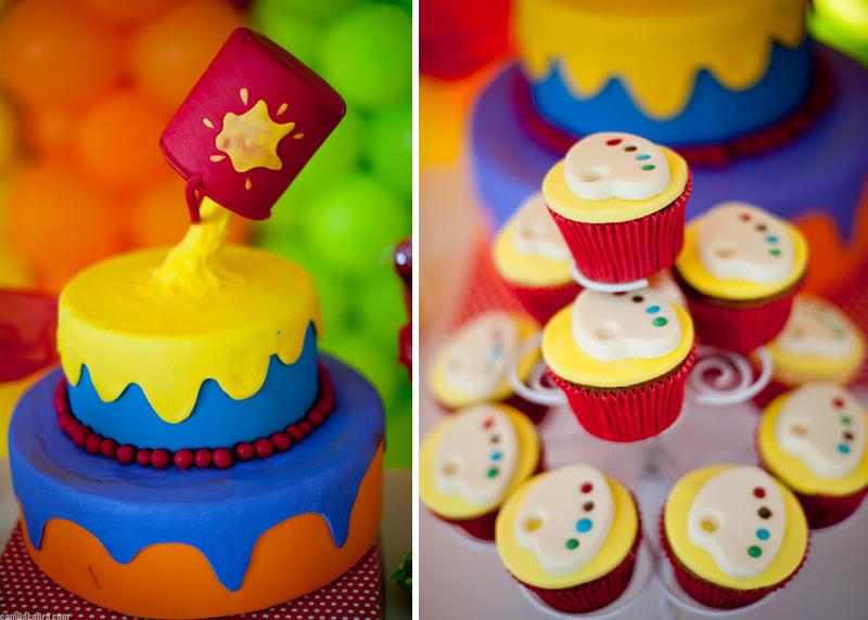 Birthday Cake Art And Craft : Tinta e trabalhos manuais Lindezas